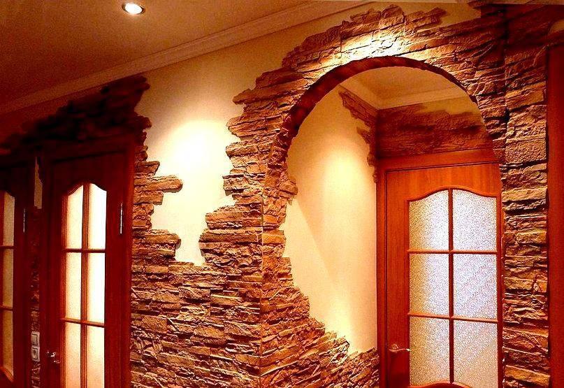 Отделка дверных проемов декоративным камнем: этапы работ