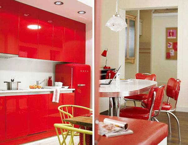 Красный цвет на кухне: яркие идеи интерьера и советы по оформлению