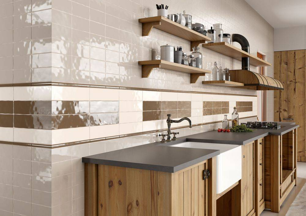 Керамическая плитка для кухни на фартук: дизайн и способы укладки
