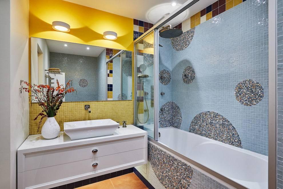 Дизайн ванной с мозаикой и плиткой (фото) – варианты и идеи интерьера