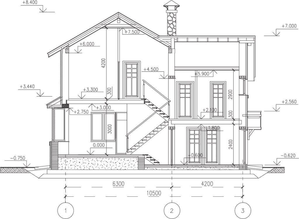 Лист для чертежа проекта дома