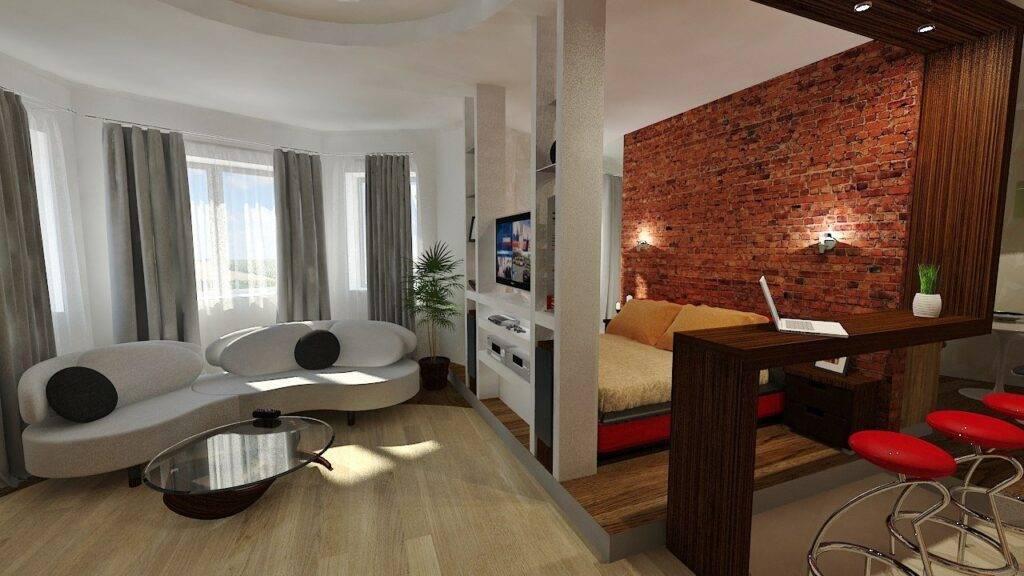 Дизайн квартиры 42 кв. м +75 фото примеров интерьера