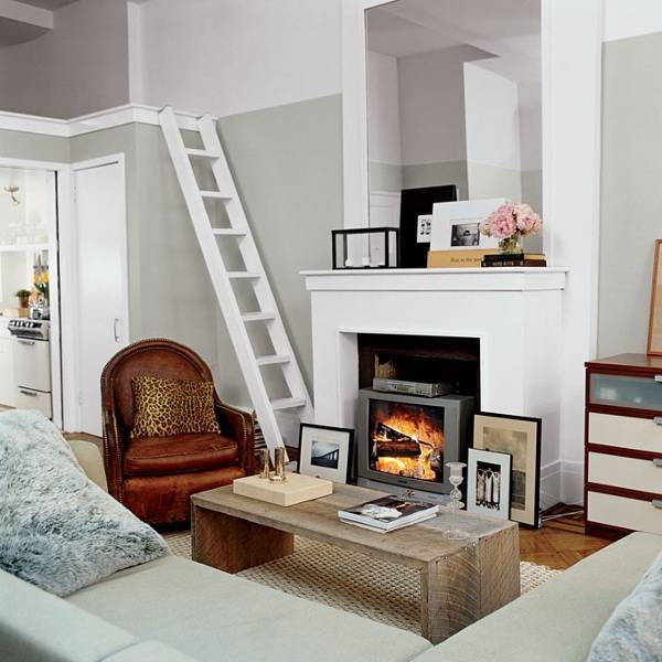 Телевизор над камином (58 фото): можно ли над вешать декоративный электрокамин в зале на одной стене с телевизором