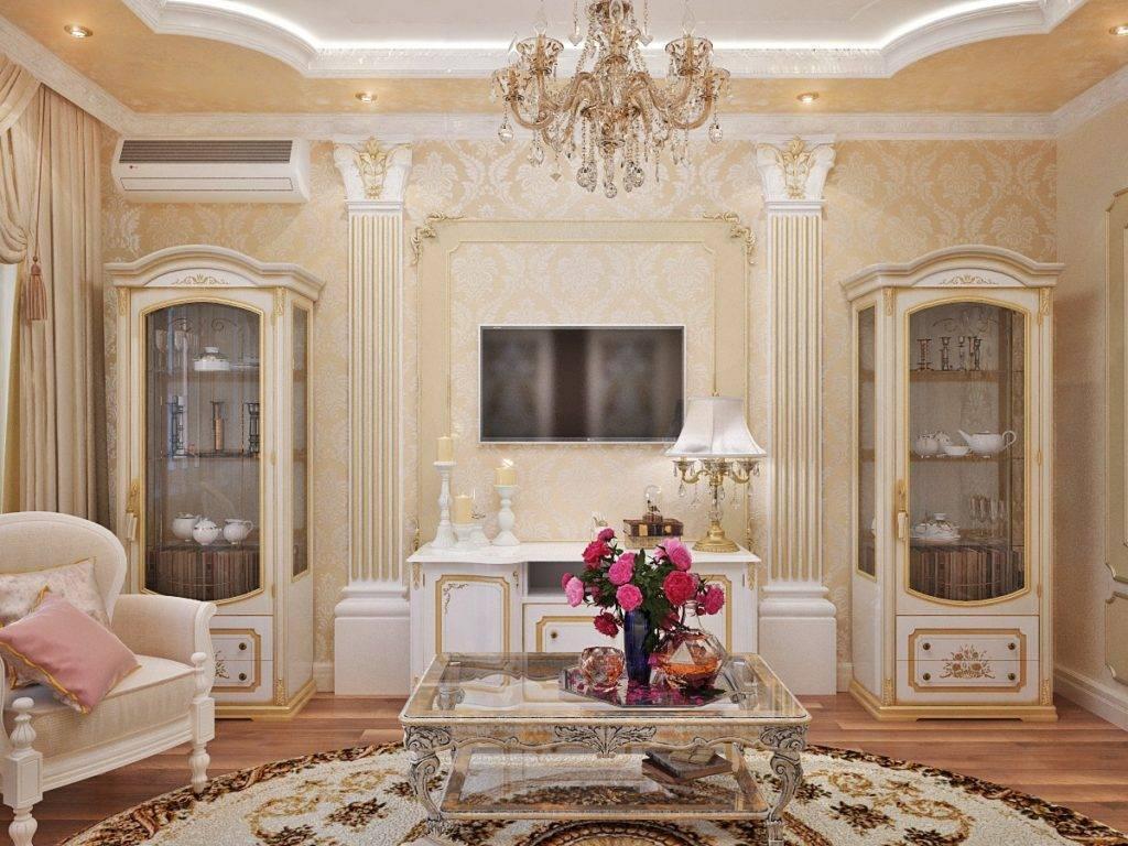Варианты выбора мебели для гостиной комнаты классического стиля