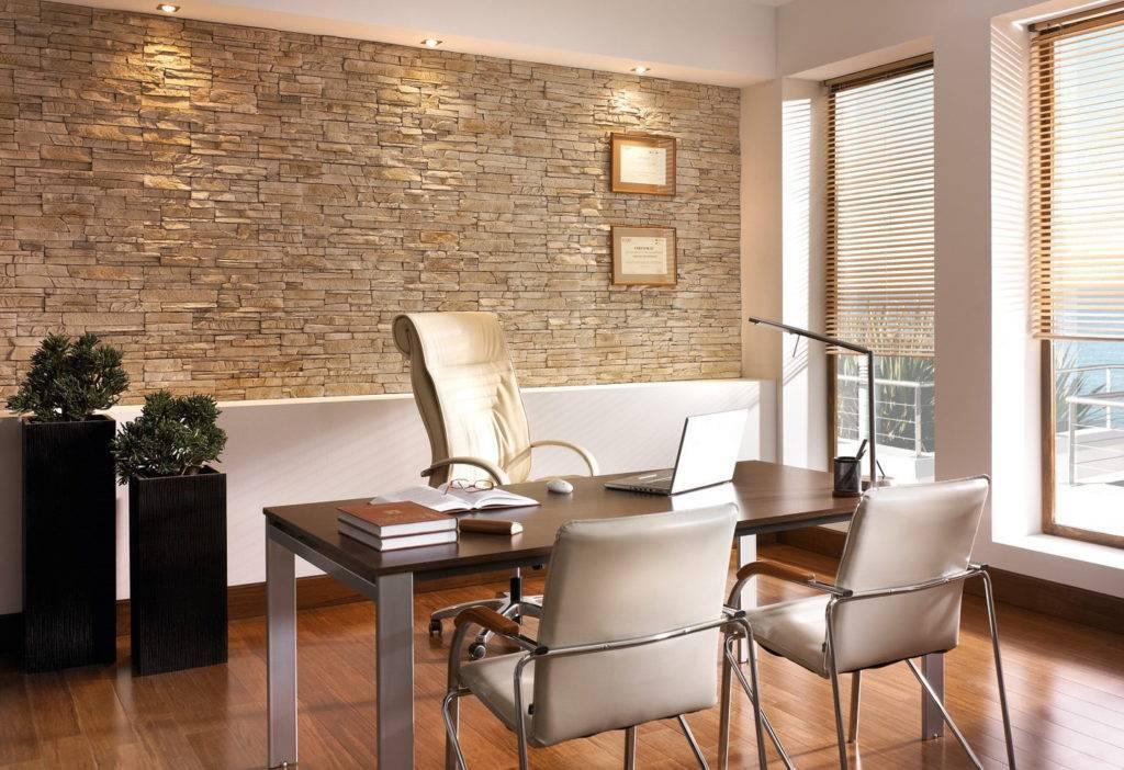 Отделка стен камнем: выбор материала и варианты оформления интерьера (60 фото)
