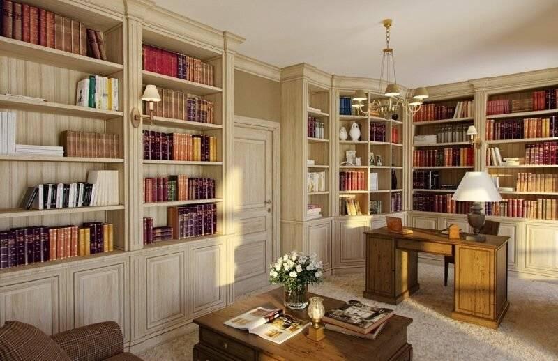 Книжный шкаф и библиотеки для дома: подборка вариантов