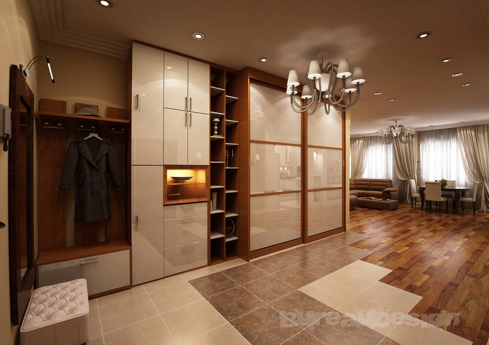 Дизайн проходной комнаты +50 фото примеров интерьера