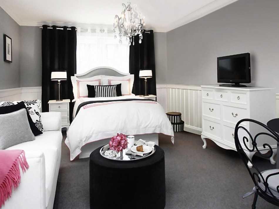 Дизайн черно-белой спальни: фото-примеры. сами придумываем дизайн черно-белой спальниинформационный строительный сайт  