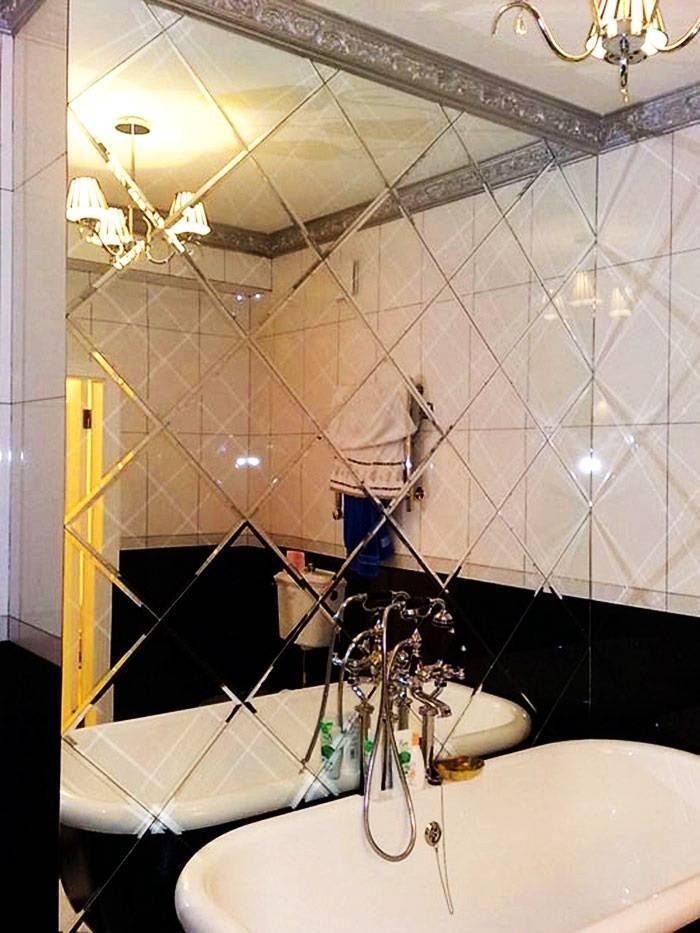 Зеркальная плитка в интерьере: идеи применения