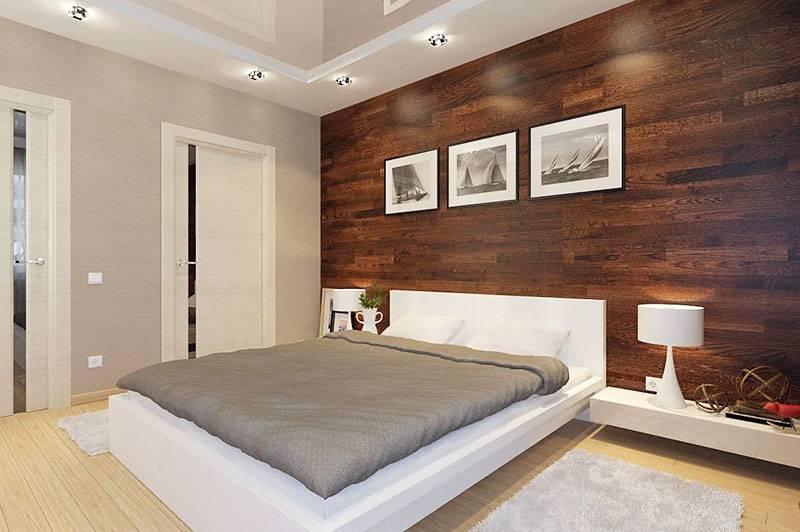 Интересные примеры отделки спальной комнаты