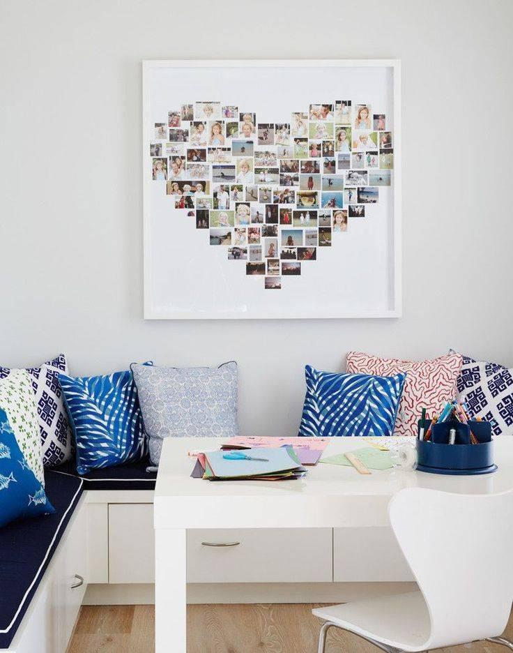 Фоторамки в интерьере - оригинальные идеи оформления на стене в квартире (57 фото)