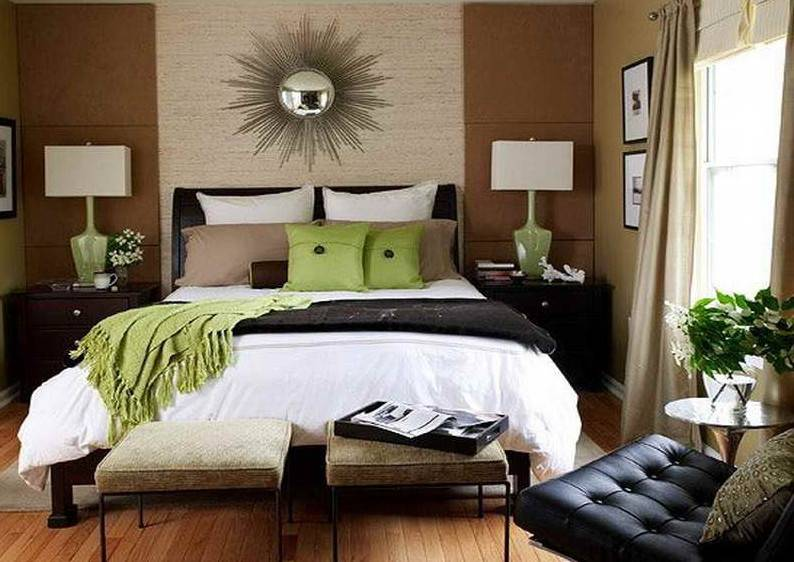 Спальня в коричнево-бежевых тонах: 91 фото-идея дизайна интерьера