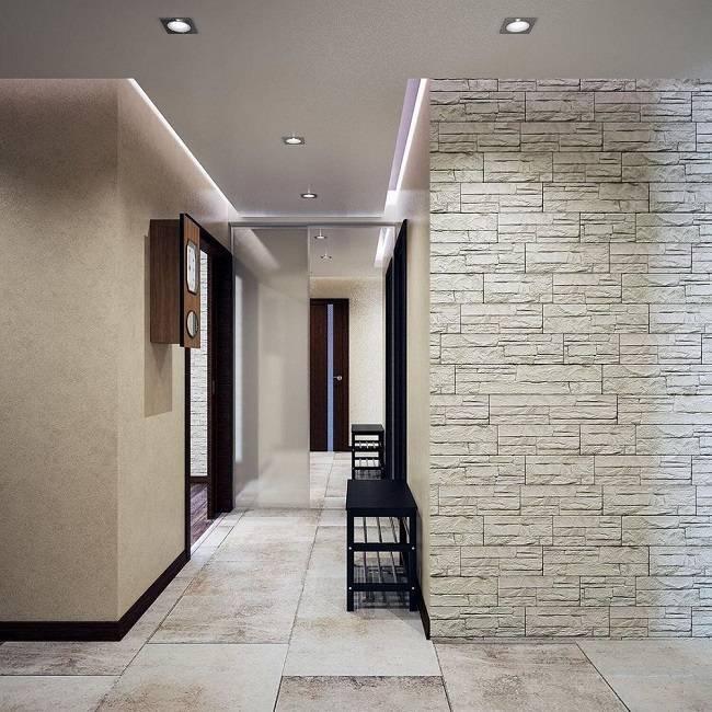 Потолок в прихожей: какой лучше сделать в коридоре, дизайн подвесного потолка в прихожую, натяжной потолок в маленькой прихожей, варианты отделки реечными потолками