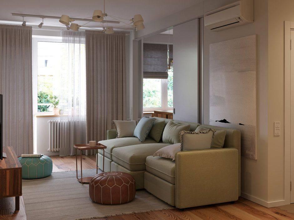 Кухня гостиная в хрущевке: как увеличить площадь за счет объединения двух комнат?