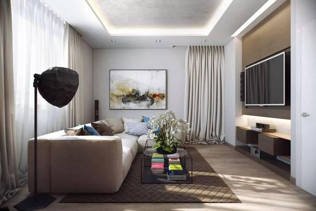 Гостиная 16 кв. м.: зонирование, дизайн и лучшие идеи украшения (85 фото)
