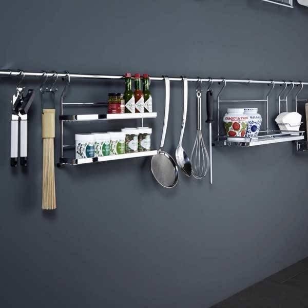 Рейлинговые системы для кухни в интерьере - как выбрать, установка