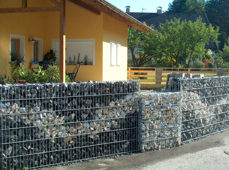 Забор из габионов своими руками - пошаговая инструкция