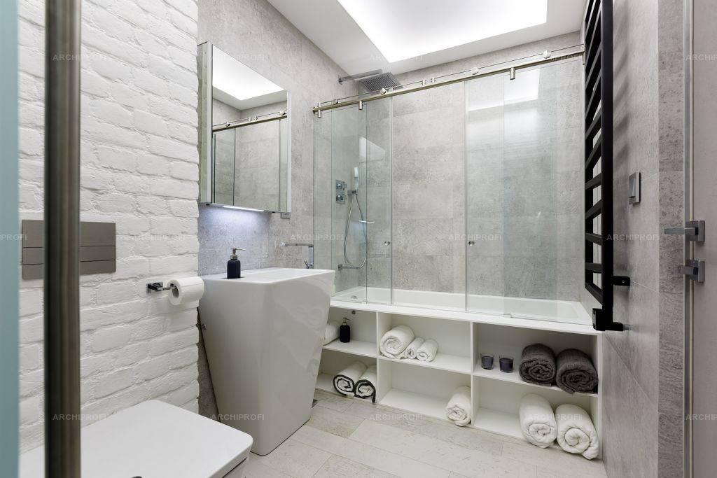 Ванная в стиле лофт — необычно, просто, практично