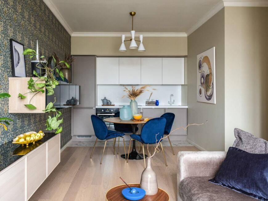 Кухня площадью 9 кв.м.:  обзор удачных приемов дизайна
