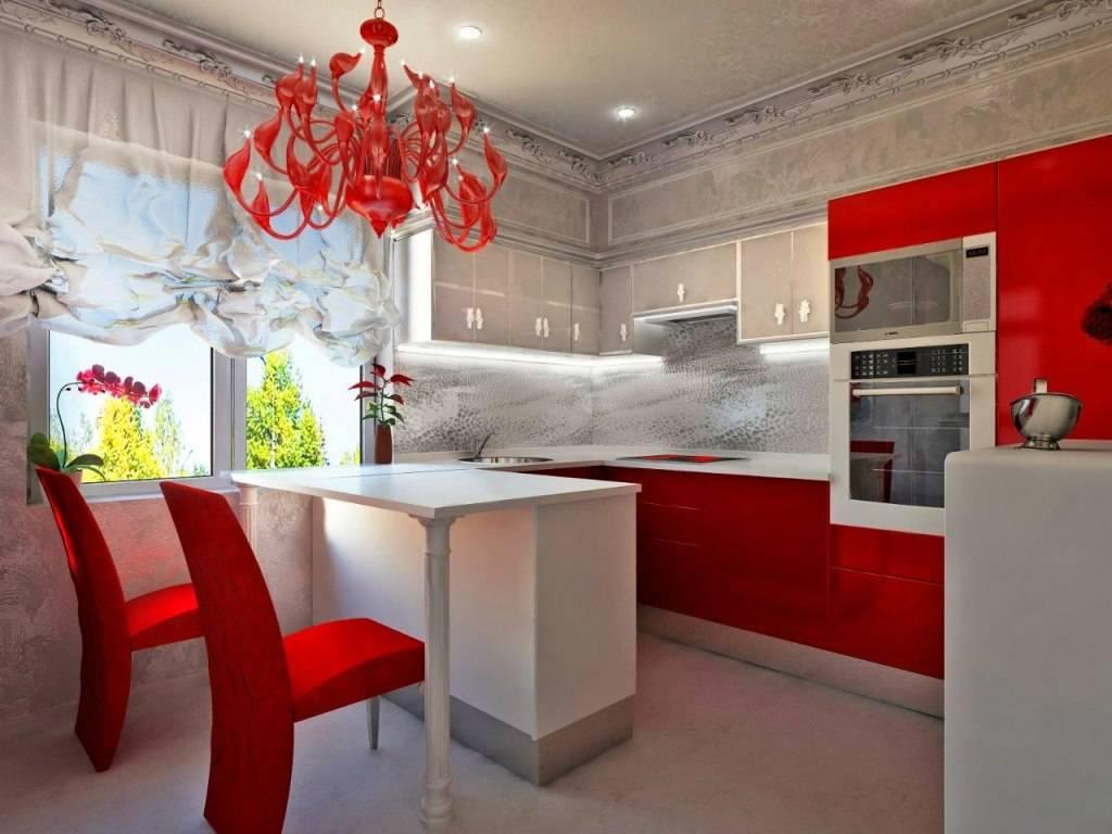 Красно-белая кухня: 70 фото ярких идей интерьера, комбинации цвета и выбор обоев