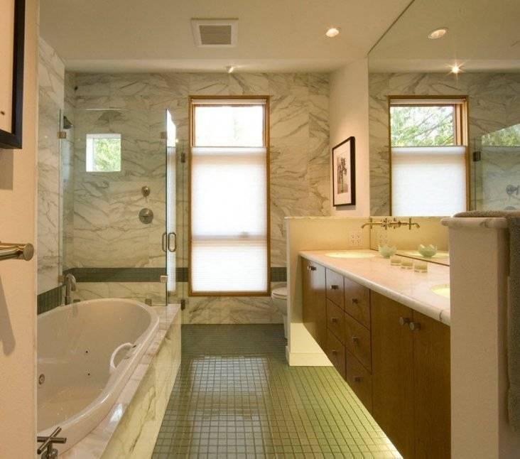 Дизайн ванной комнаты с окном: фото и нюансы