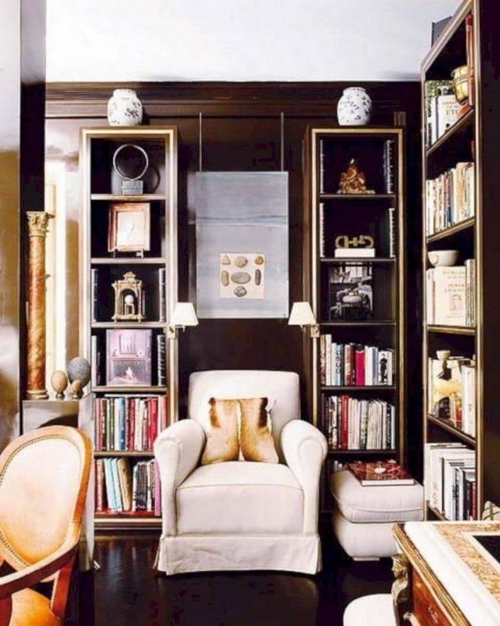 Интерьер библиотеки +50 фото примеров дизайна - home-secret.ru