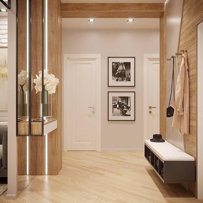 Оформление стен в коридоре (прихожей): 100 лучших вариантов отделки
