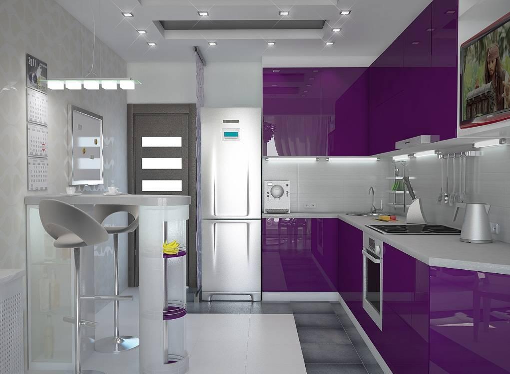 Сиреневая кухня: идеи дизайна и фото интерьера