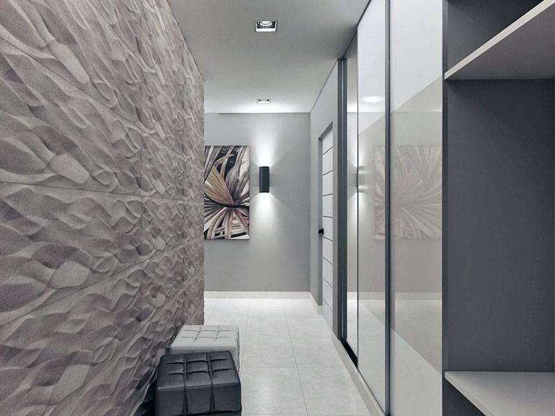 Варианты отделки стен в прихожей