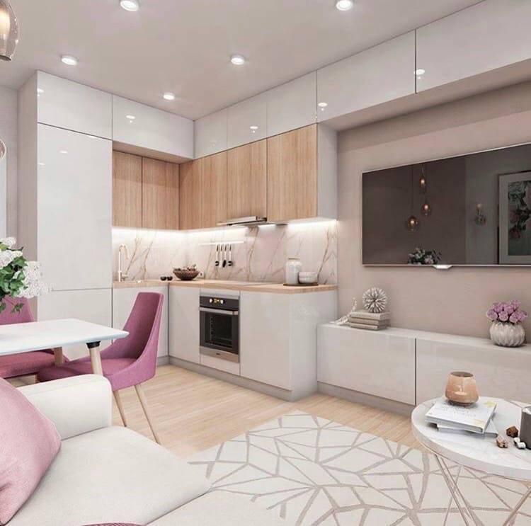 Дизайн кухни-гостиной: обзор стильных и оригинальных интерьеров