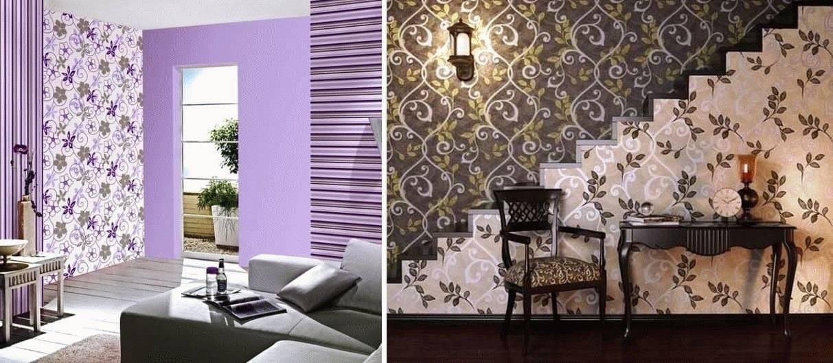 18 оригинальных фото с обоями двух цветов в зале: как наклеить и чему уделить внимание