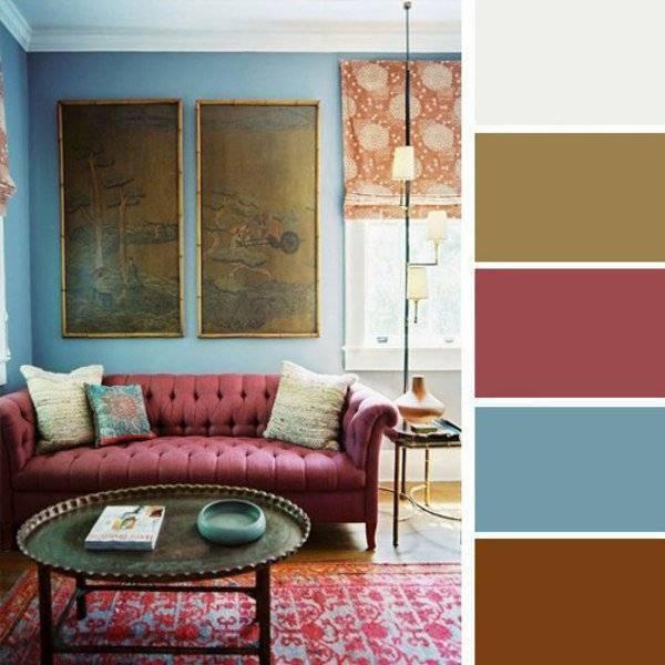 Сочетание бордового цвета и его оттенков | lookcolor