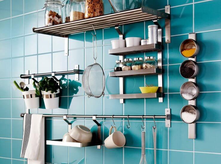 Рейлинги для кухни - выбор и установка