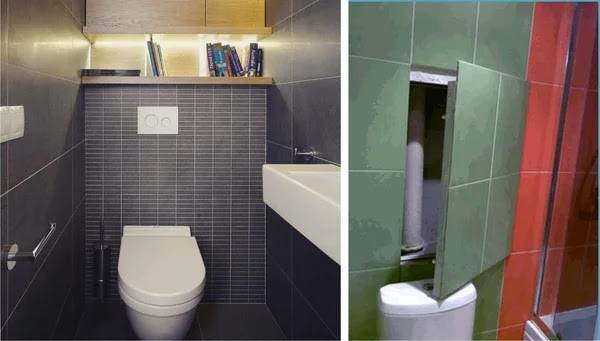 Как спрятать трубы в туалете - 27 фото популярных способов