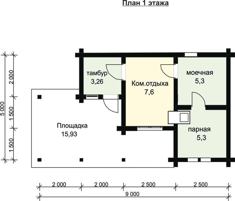 Топ-35 лучших проектов бани с террасой, комнатой отдыха