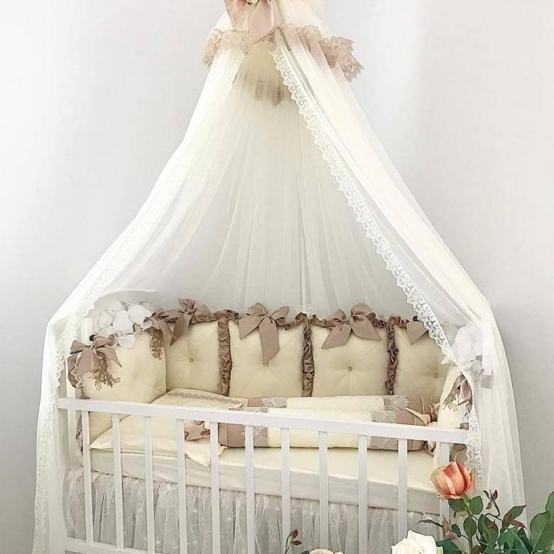 Балдахин на детскую кроватку: советы по выбору ткани, крепление, фото