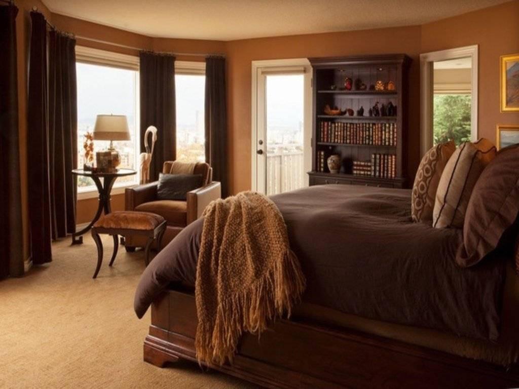 Коричневая спальня — 105 фото дизайна. секреты идеального сочетания.
