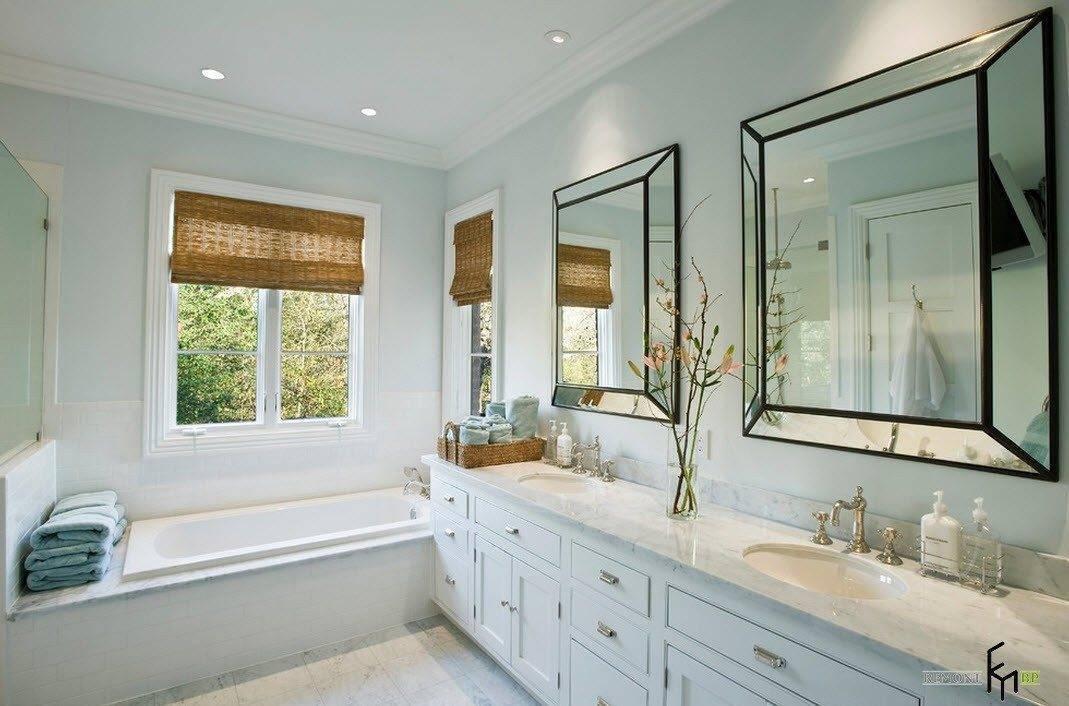 Дизайн ванной комнаты с окном: 15 фото