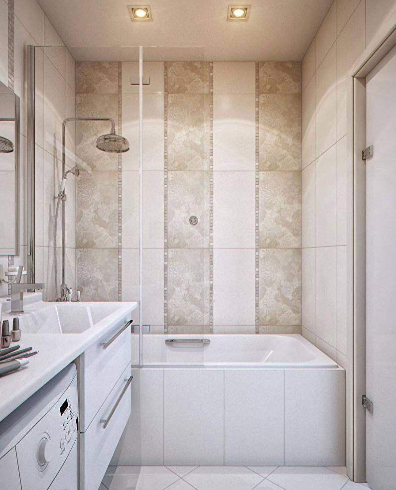 Дизайн маленькой ванной комнаты - фото примеров