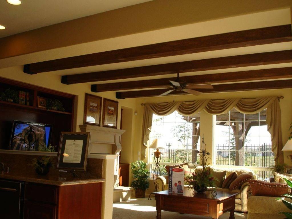 Балки на потолке в интерьере квартиры: фото, дизайн, идеи