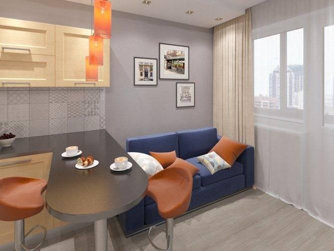 Интерьер кухни 12 кв м с диваном