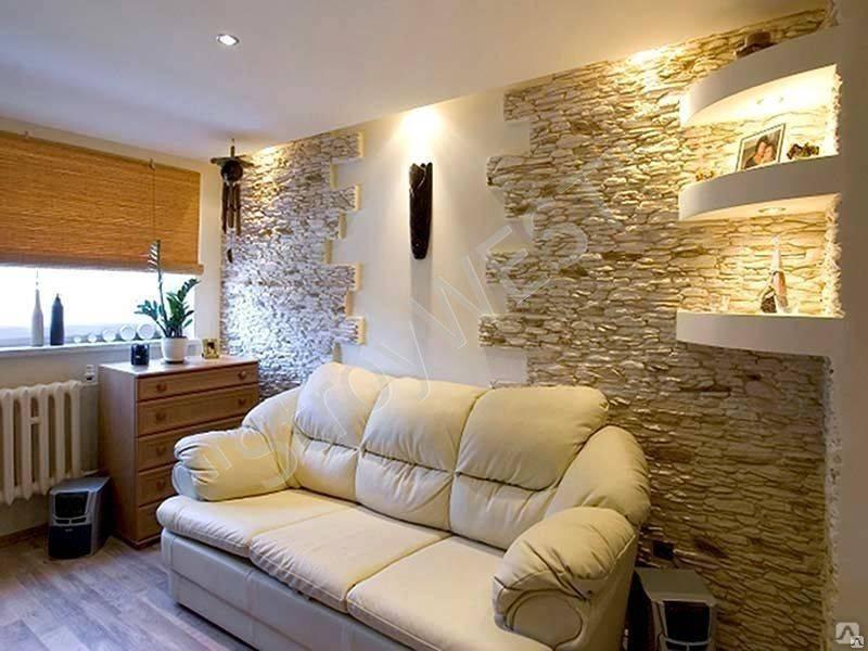 Декоративный камень в интерьере — 75 фото вариантов идеального дизайна