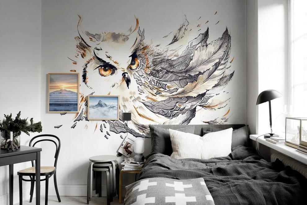 Рисунки на стенах своими руками: 3 мастер-класса, 7 идей, 100 фото
