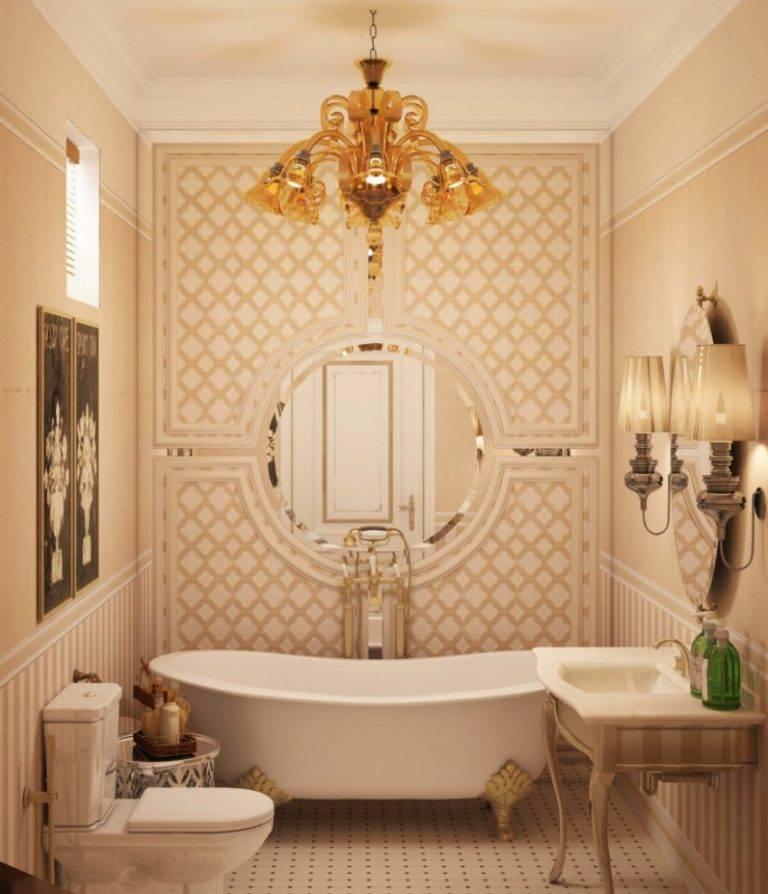 Классический дизайн ванной, основные принципы с фото