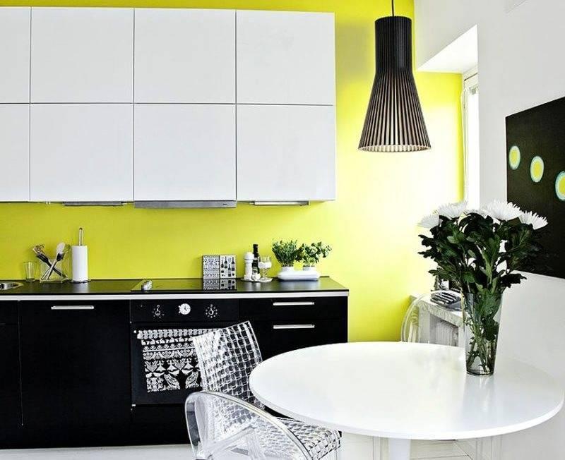 Черно-белая кухня: плюсы, минусы, сочетания и фото примеры интерьеров кухни