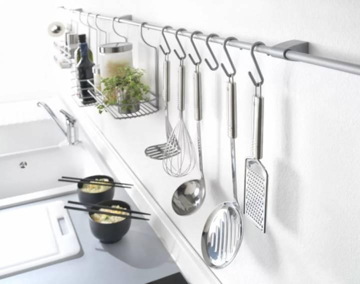 Рейлинги для кухни: удобство, функциональность, простота, фото