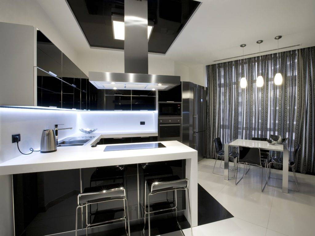 Как стильно оформить кухню: 92 фото-решения с идеями дизайна кухни хай-тек