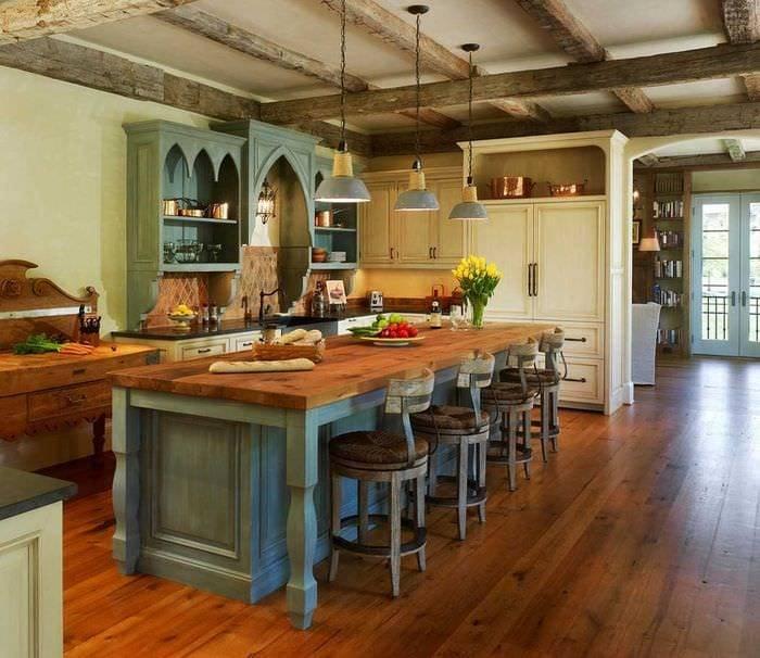 Уютная кухня в стиле кантри: 100+ примеров аутентичного дизайна – rehouz