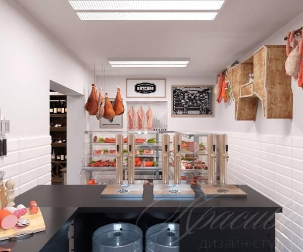 Дизайн магазина продуктов: фото примеры проектов