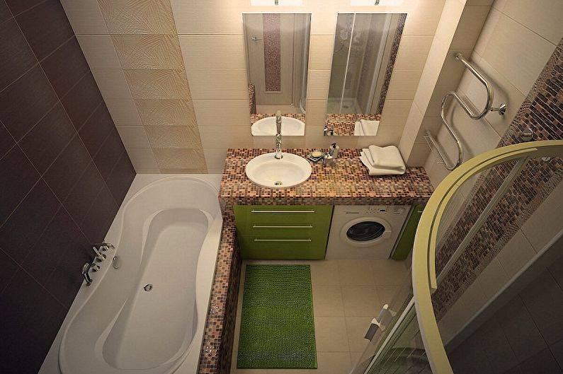 Дизайн ванной комнаты 3 кв.м. (60 фото), маленькая ванная — идеи интерьеров